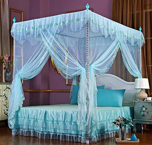 Nattey Flowers 4 Corners Princess Bedding Curtain Canopy Https Www Dp B01n2u3r6z Ref Cm Sw R Pi Dp U X Girls Bed Canopy Bed Decor Princess Bed