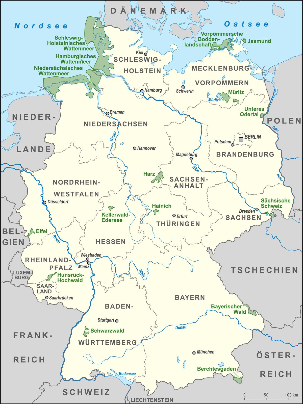 deutschland karte wikipedia Nationalparks in Deutschland – Wikipedia in 2020 | Karte