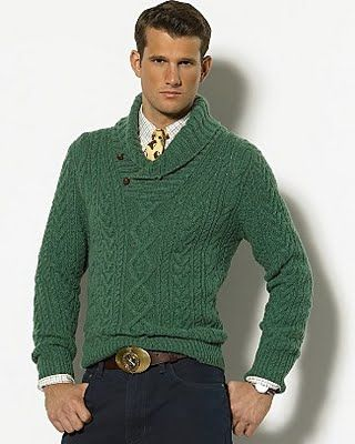 Dress for success with this stylish Ralph Lauren Cable Knit Shawl ...
