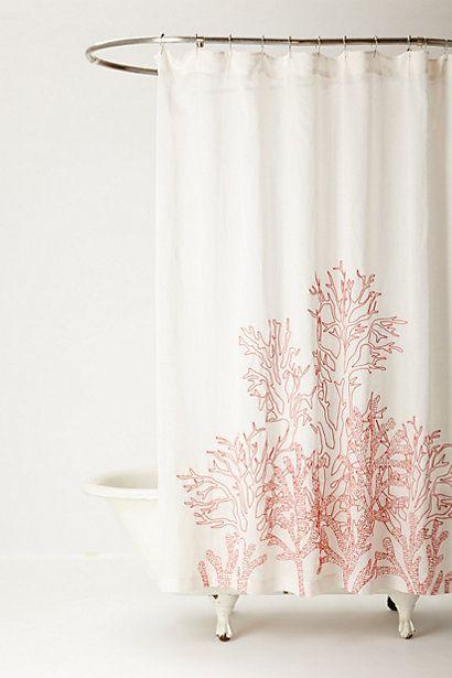 Shower curtain from anthro with woven portuguese bathmat - Cortina bano mapamundi ...