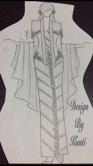 Sketsa Baju Kebaya