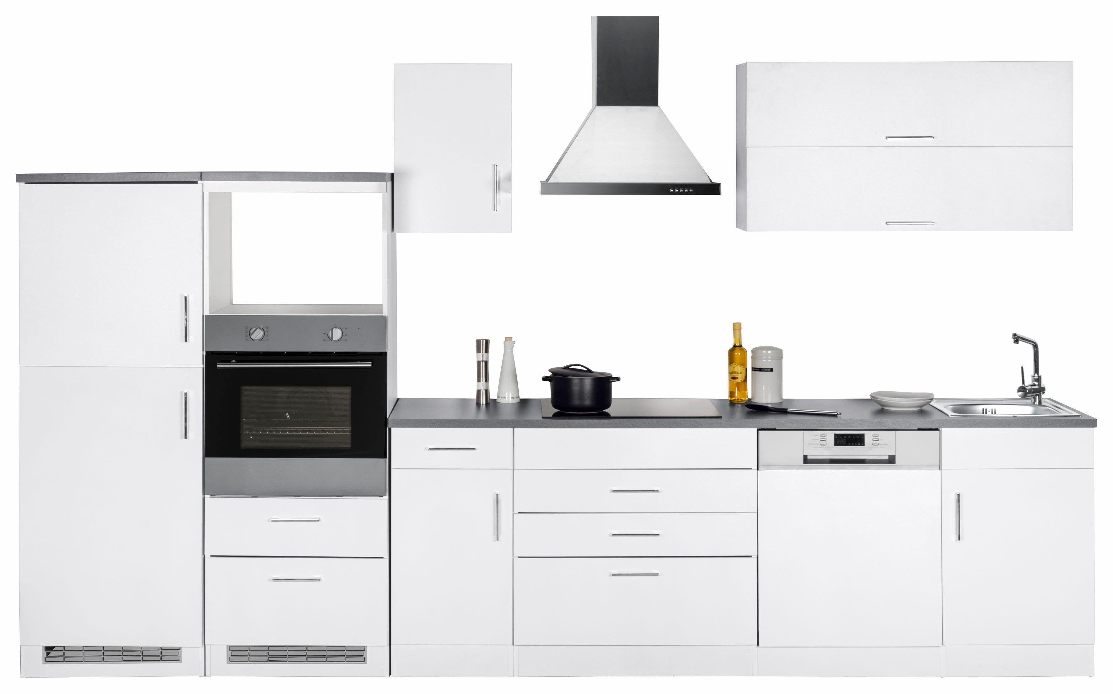 Küchenzeile, weiß, Material Metall / MDF »Graz«, Yourhome