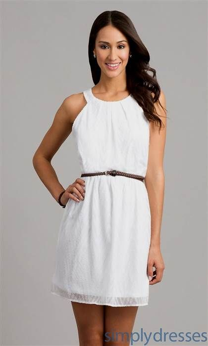 523ab76b9ce Cool casual white graduation dresses 2018