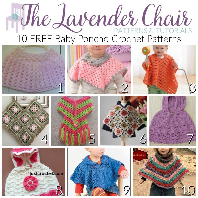 10 FREE Baby Poncho Crochet Patterns - The Lavender Chair