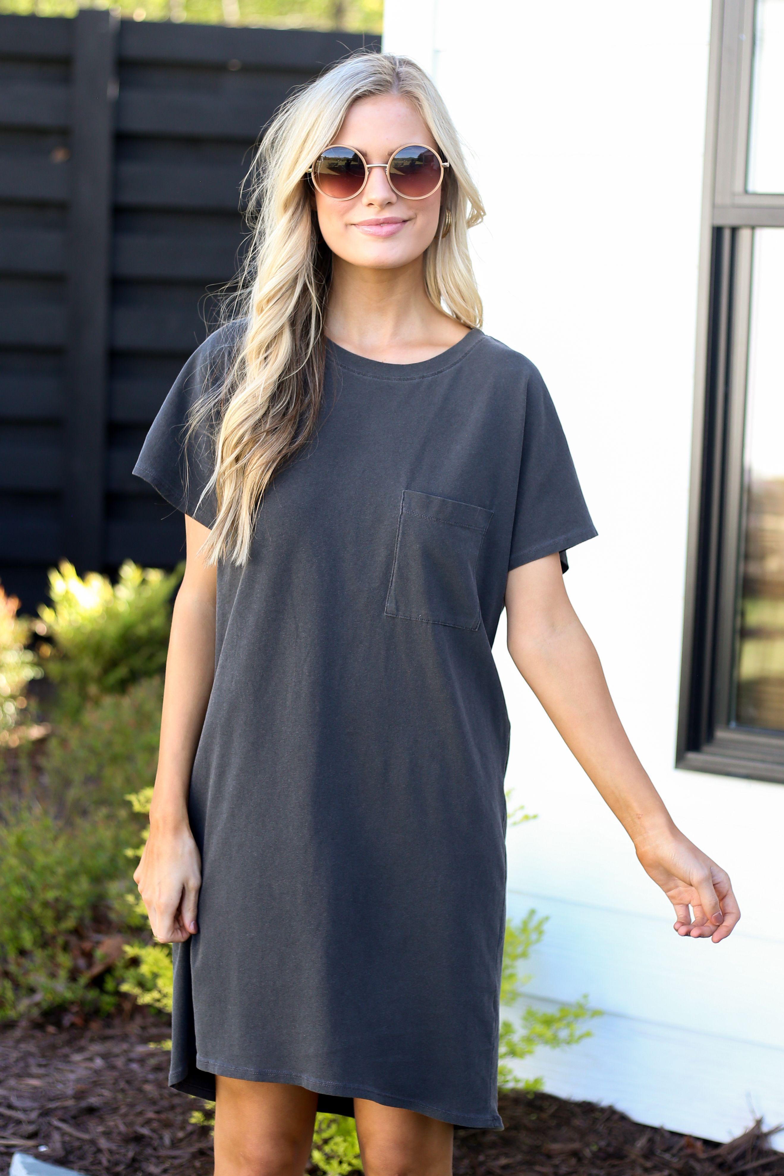 Stevie T Shirt Dress Tshirt Dress Outfit Shirt Dress Summer Dress Outfits [ 3956 x 2637 Pixel ]