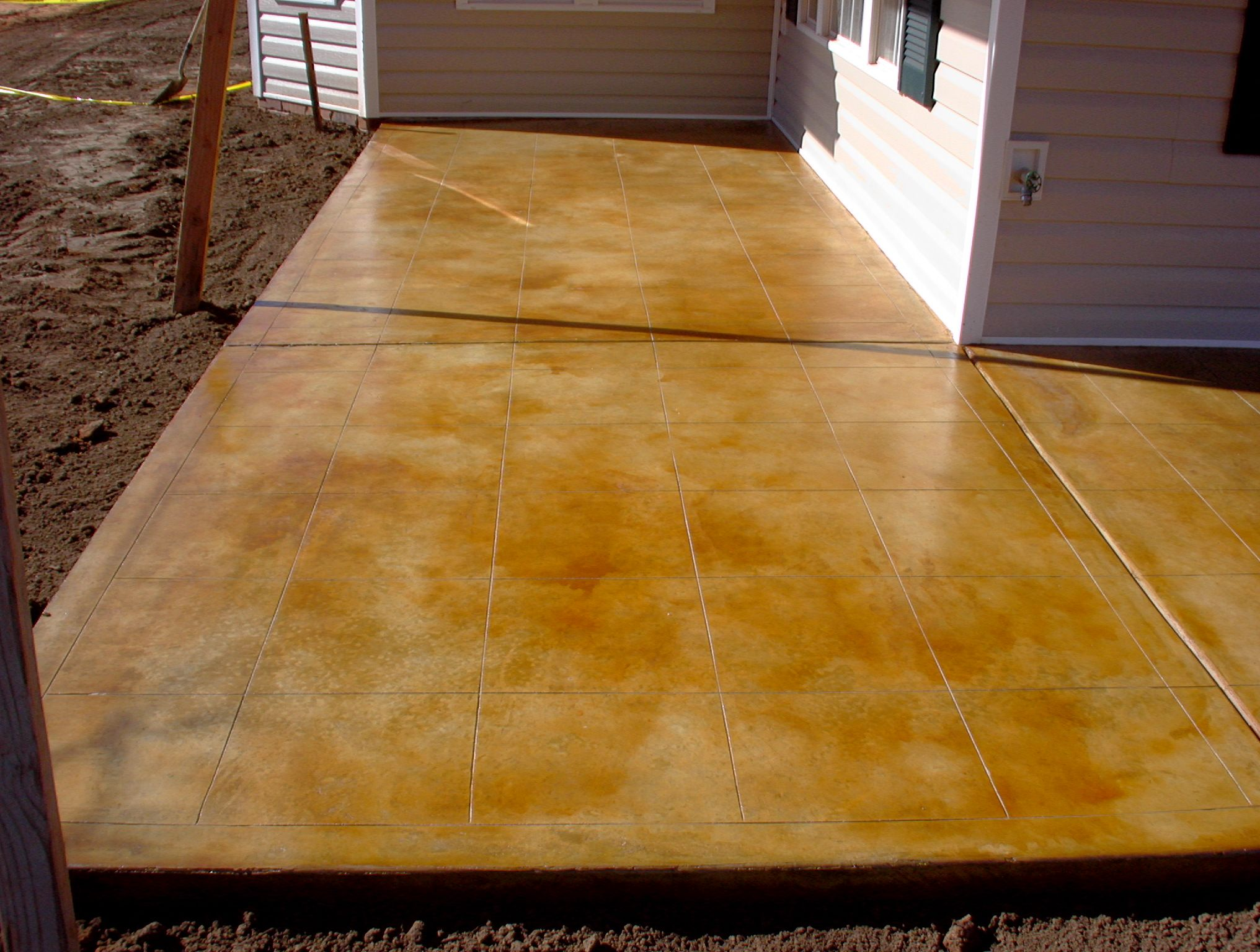 concrete acid stain on patio Home Pinterest