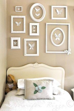 Paredes decoradas con mariposas de papel Wall ideas, Gallery wall