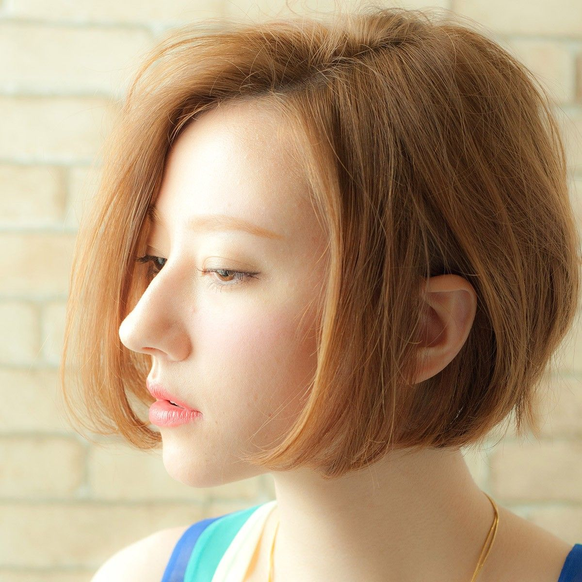 how to get hair style 髪型 ヘアスタイル ボブストレートの前髪なしやレイヤーで大人女子に変身 getbeauty hair 7503
