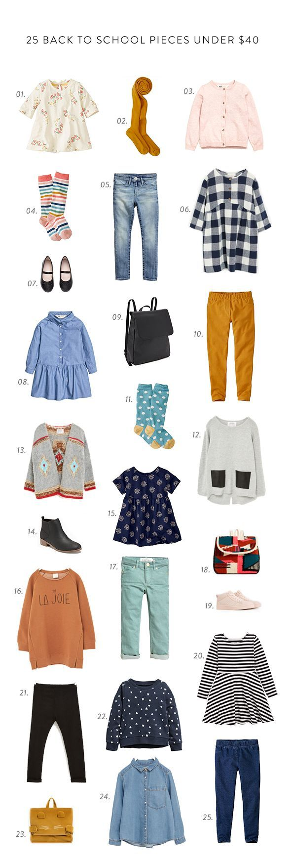 25 back to school pieces for girls under $40