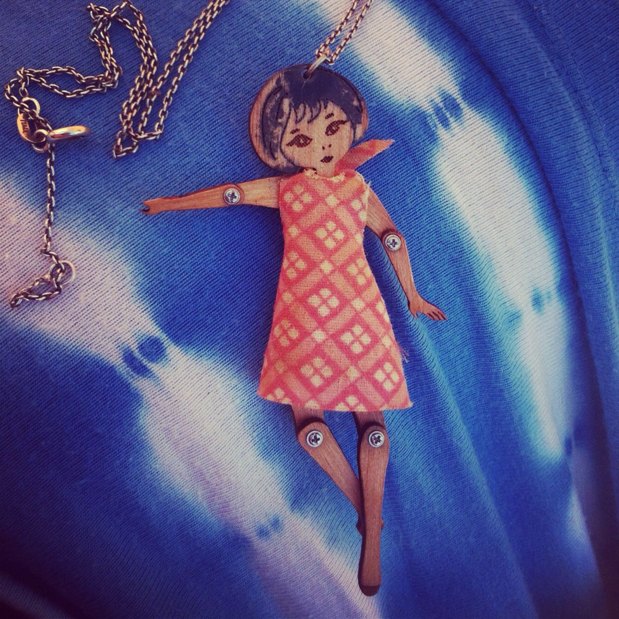 Little girl art necklace