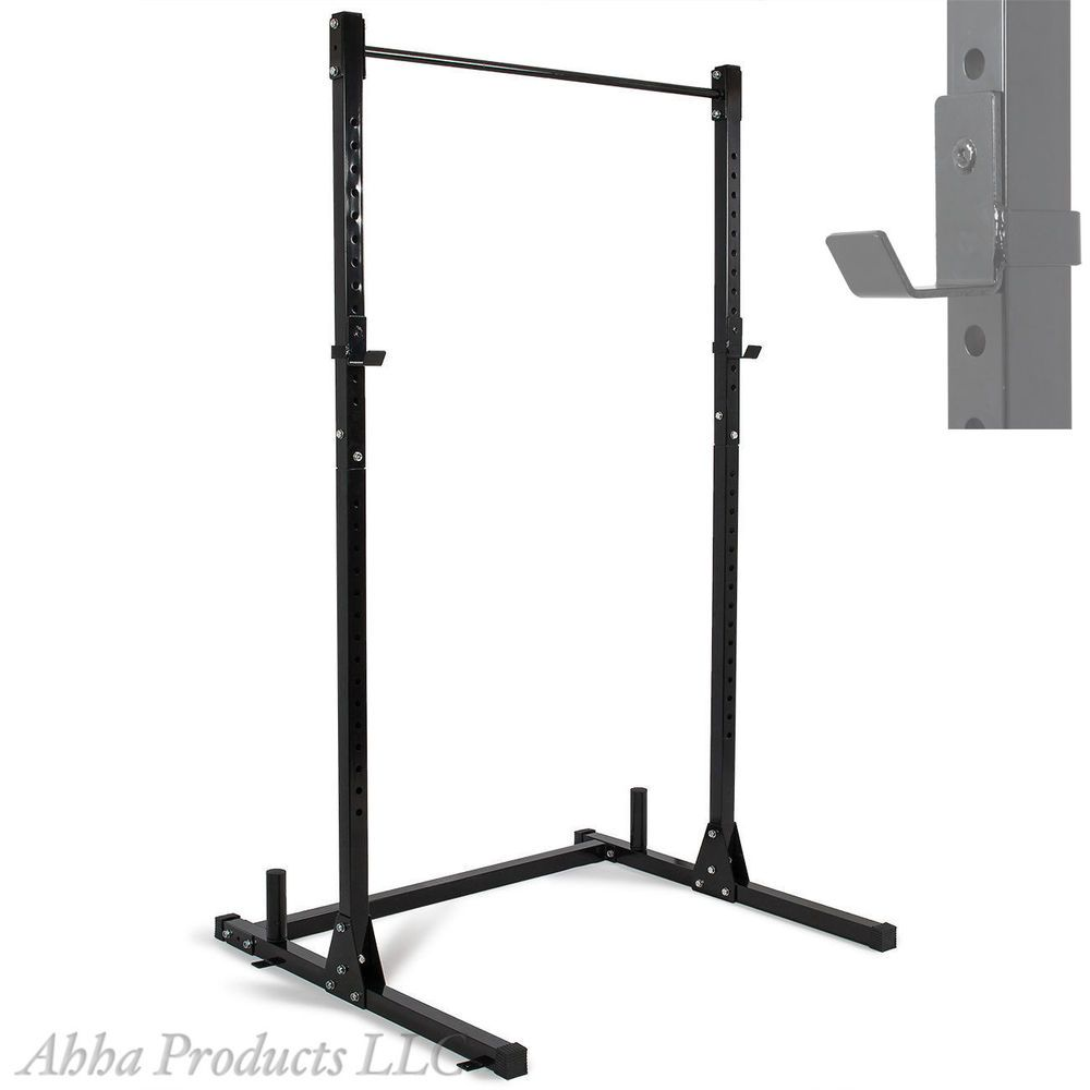 Exceptional Weight Bench With Pull Up Bar Part - 12: Adjustable Squat Bench Pull Up Bar Station Weight Lifting Rack Stand Holder  Gym #Unbranded