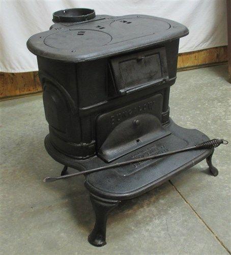 Birmingham AL Cast Iron Wood Stove No 118 Kitchen Cabin Vintage Parlor Pot  Belly - Birmingham AL Cast Iron Wood Stove No 118 Kitchen Cabin Vintage