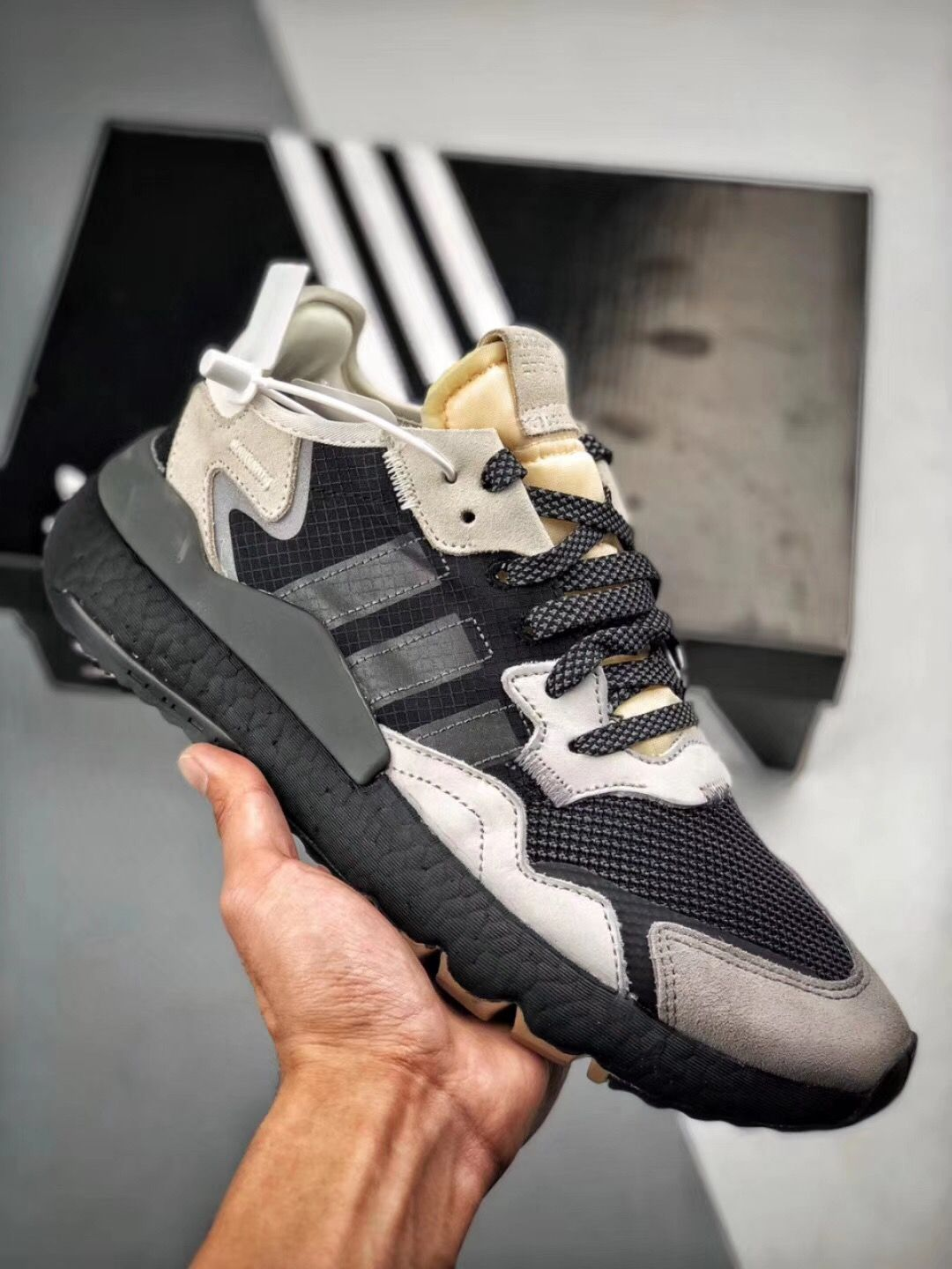 a few days away detailed images top fashion ADIDAS BOOST NITE JOGGER 2019 in 2019 | Shoe boots, Casual ...