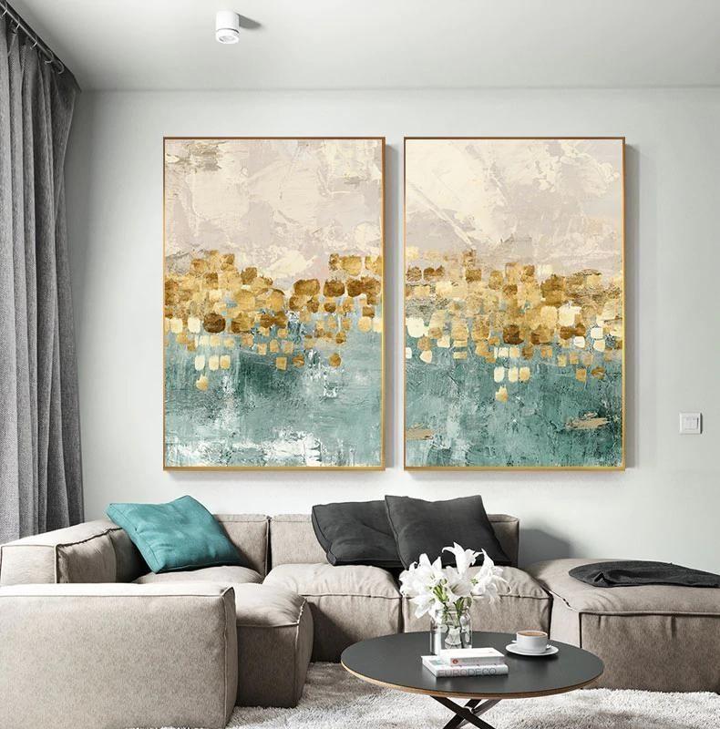 48 Inspiring Canvas Wall Art Decor Make Living Room Look Amazing Modern Interior Decor Living Room Decor Inspiration Tiffany Blue Walls Wall art decor living room