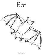 bat coloring page | Bat coloring pages, Preschool themes ...