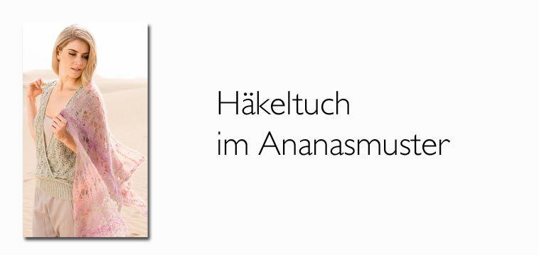 Modernes Häkeltuch im Ananasmuster | Häkeln | Pinterest | Knit ...