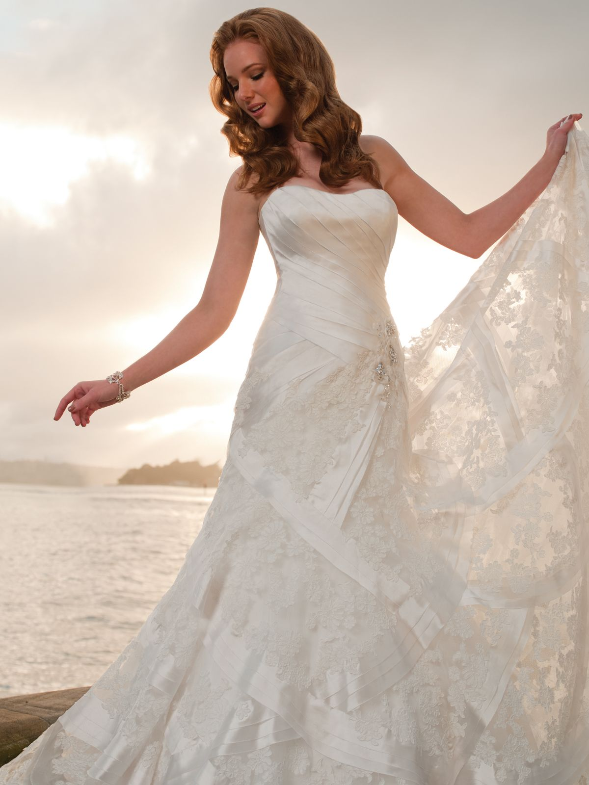 Sophia tolli style y nautica love the unique lace design