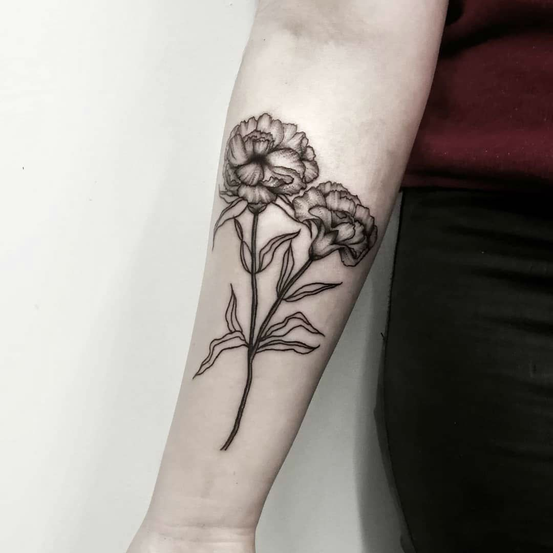 27 Beautiful Carnation Tattoo Ideas And Their Symbolism Carnation Tattoo Carnation Flower Tattoo Tattoos