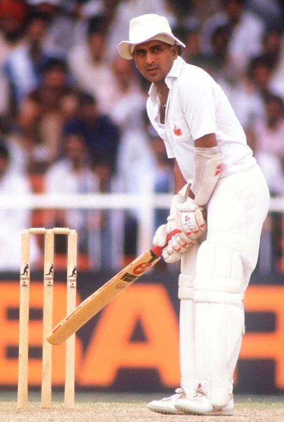 S Gavaskar Test 125 Run 10122 Avg 51 2 Sunil Gavaskar India Cricket Team Cricket In India