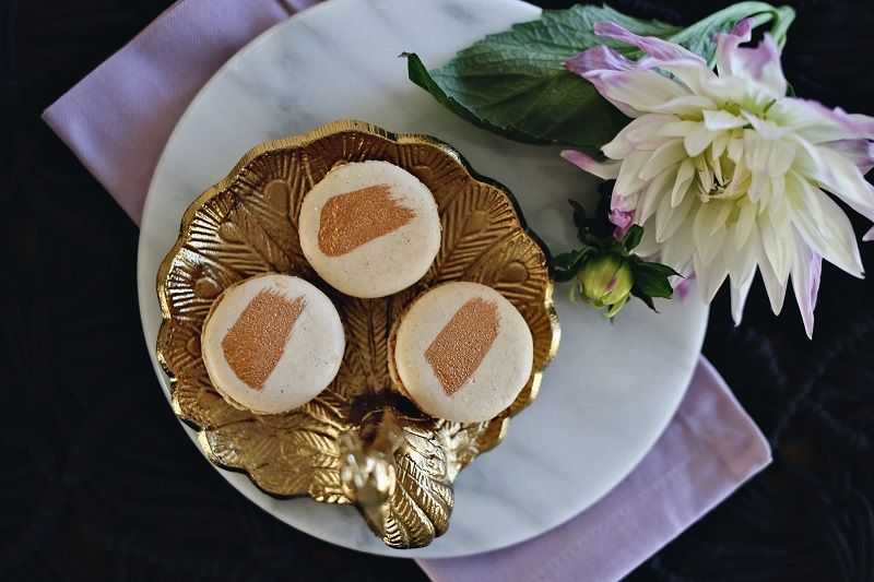 Chamomile and Rose Buttercream Macaron Recipe by Kristin of Dine X Design created exclusively for Discover, a blog by World Market #DiscoverWorldMarket #Macaron #Recipe
