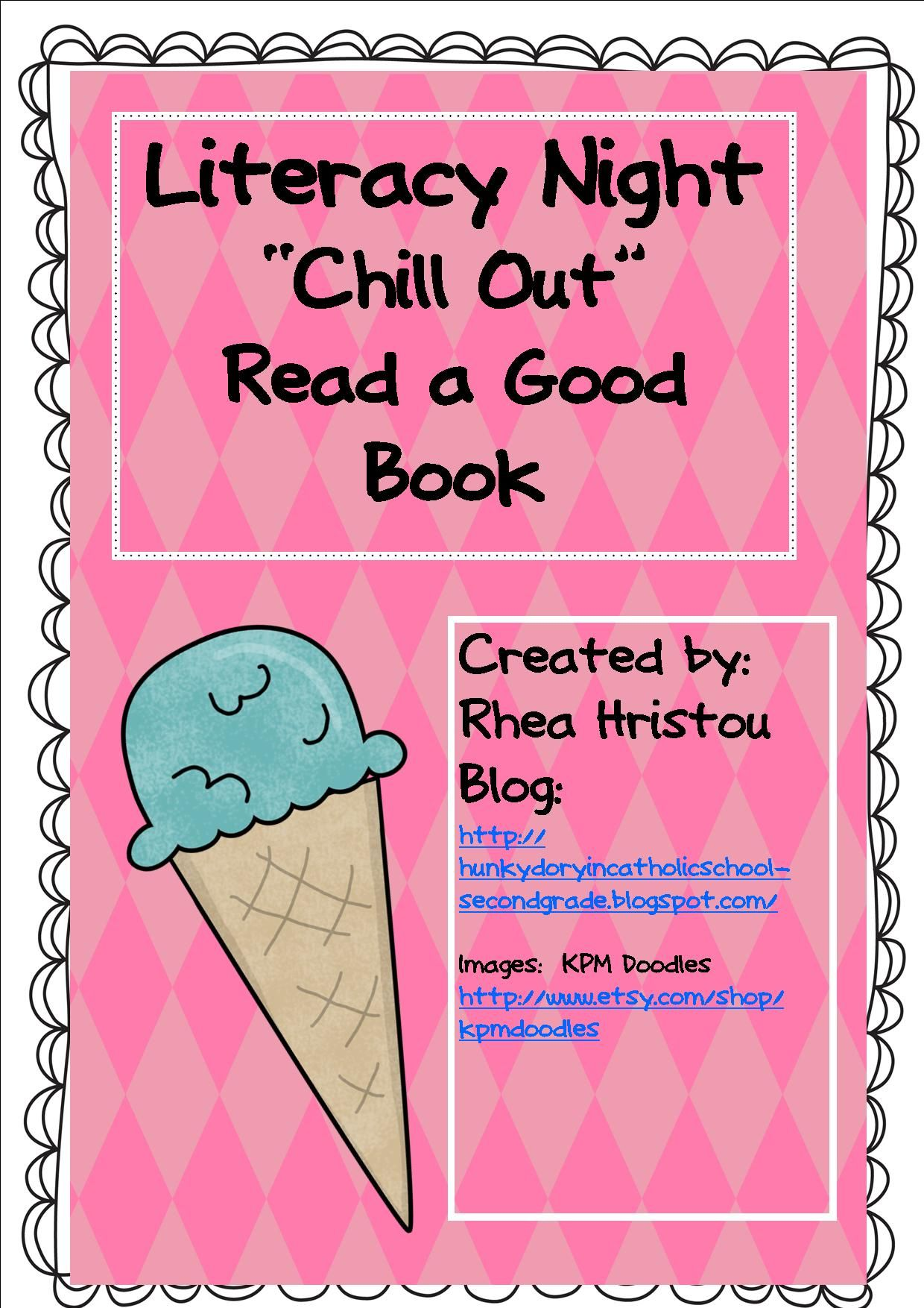 Literacy Night Chill Out With A Good Book Literacy Night