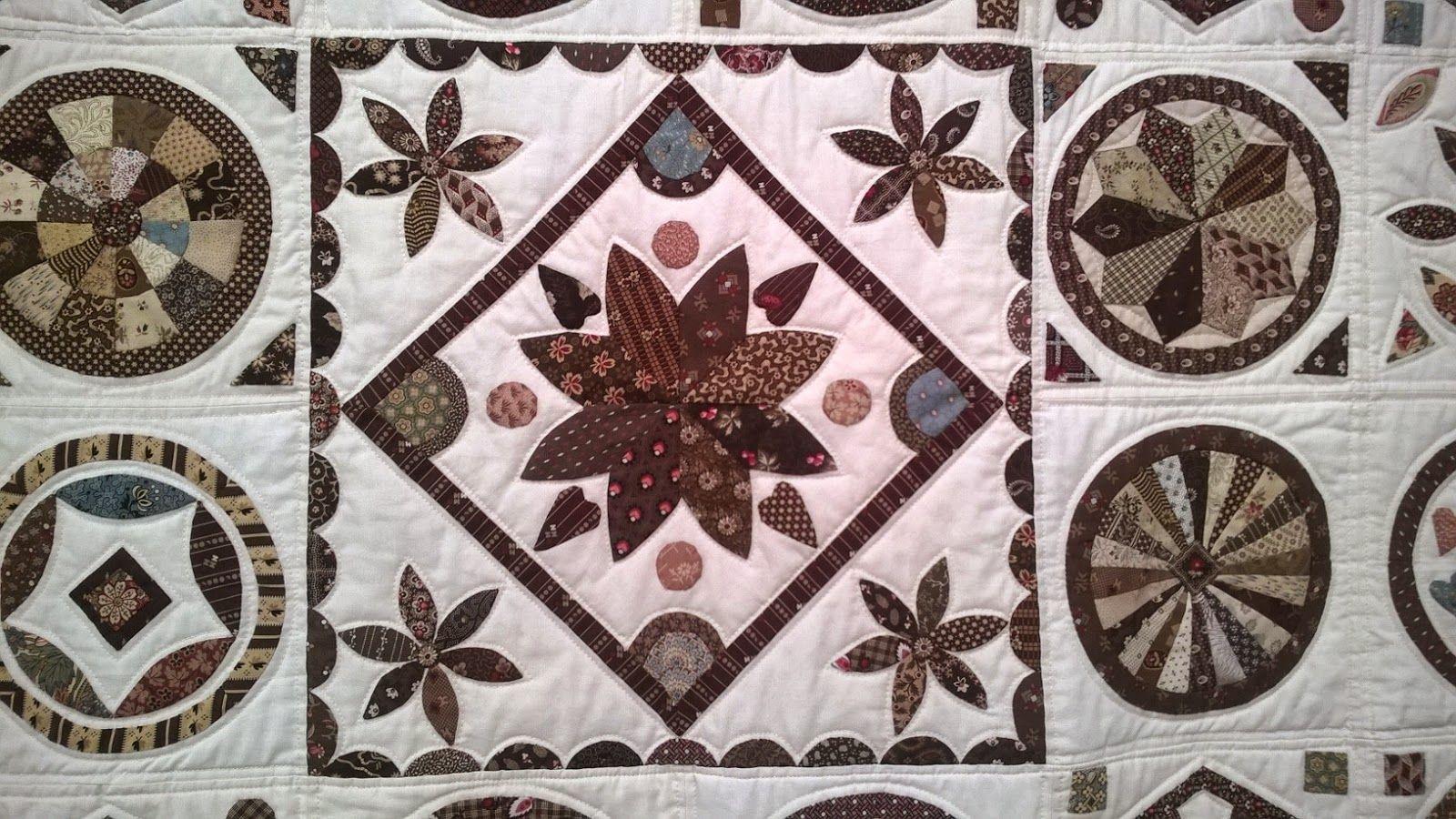 MIdterfeltet i Jytte Amdisens quilt udstillet i Alsace 2013 og i Aulby