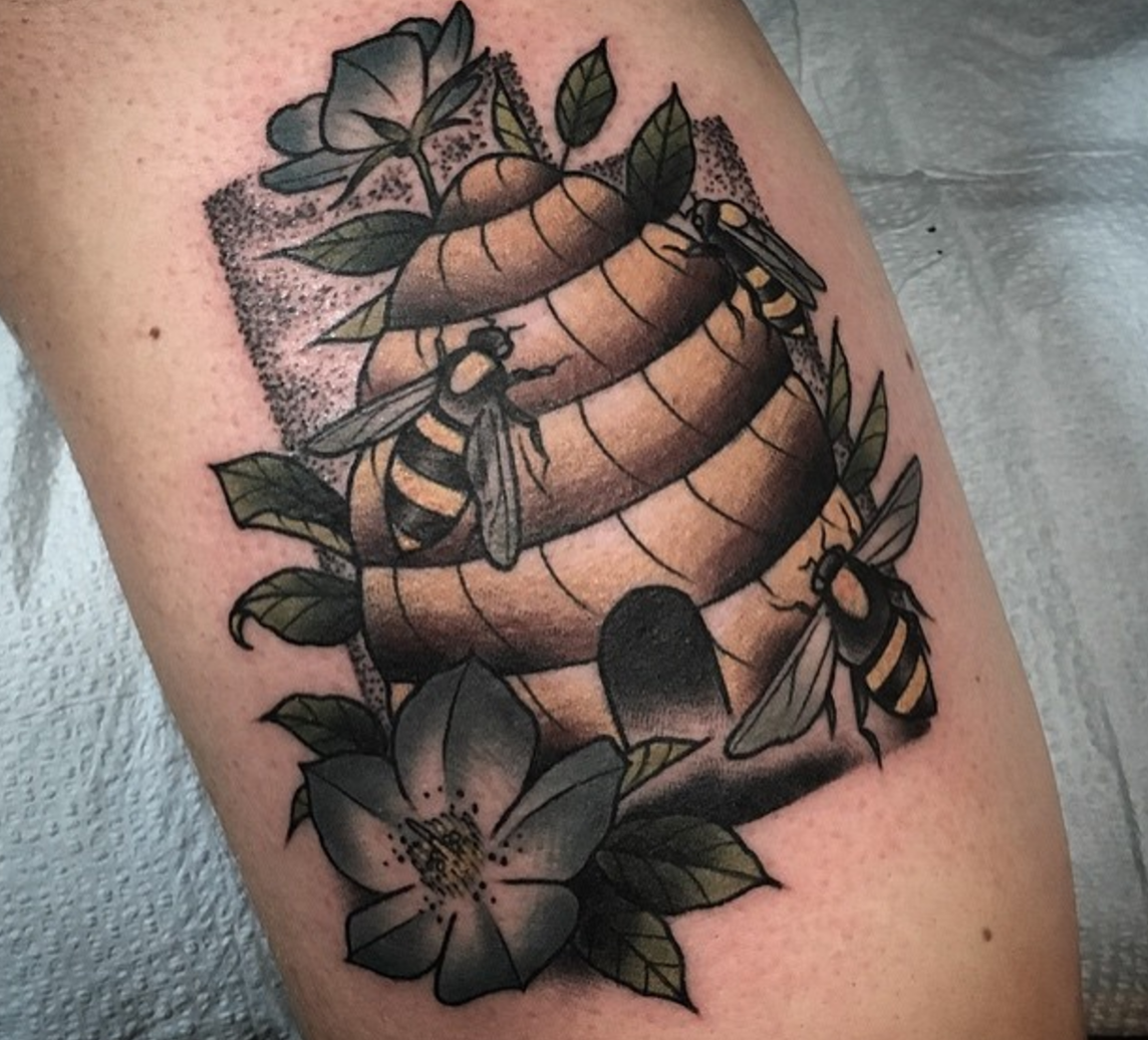 Beehive Tattoo By Goodtimes