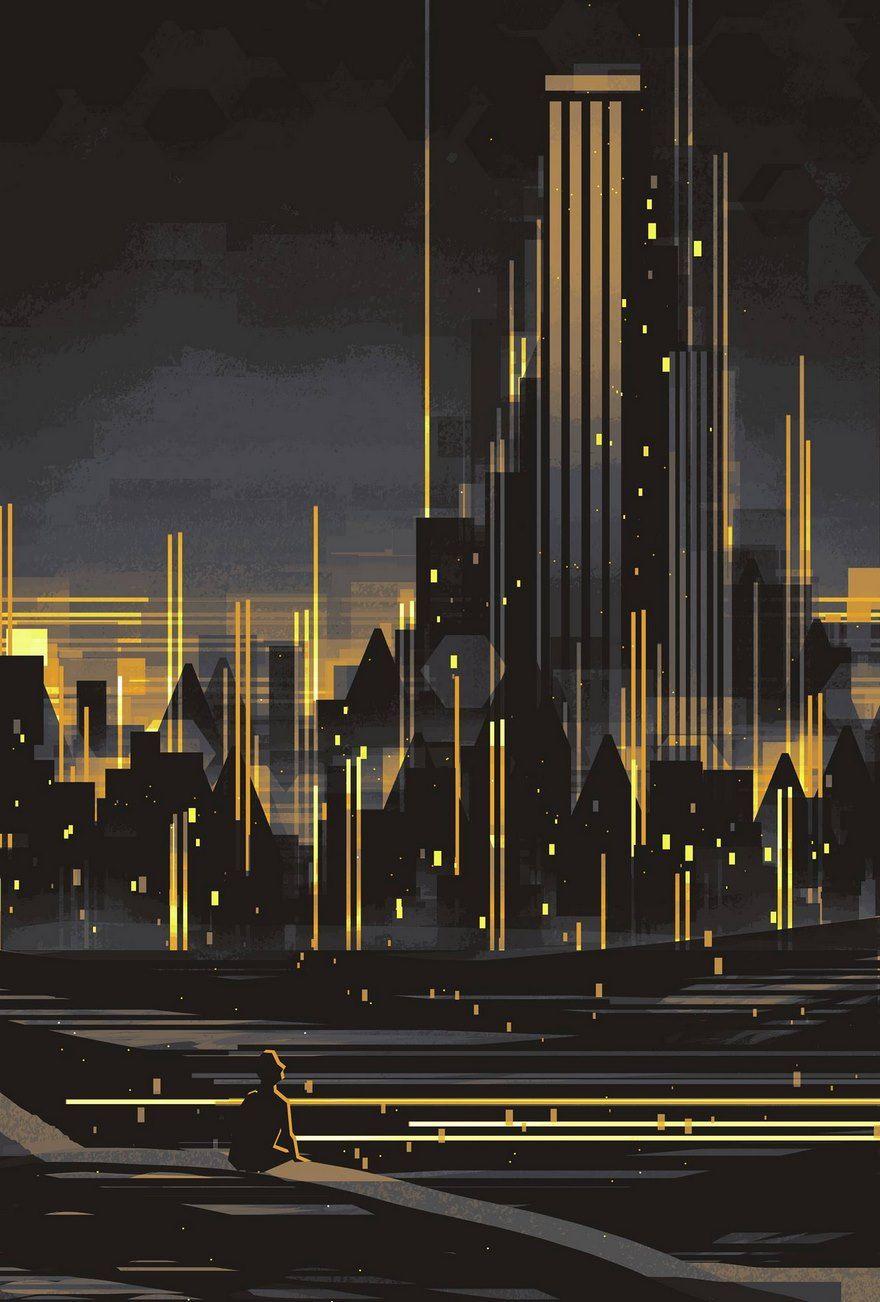 Geometric Cityscapes And Landscapes By Illustrator Scott Uminga - City skylines turned into geometric metropolises by scott uminga