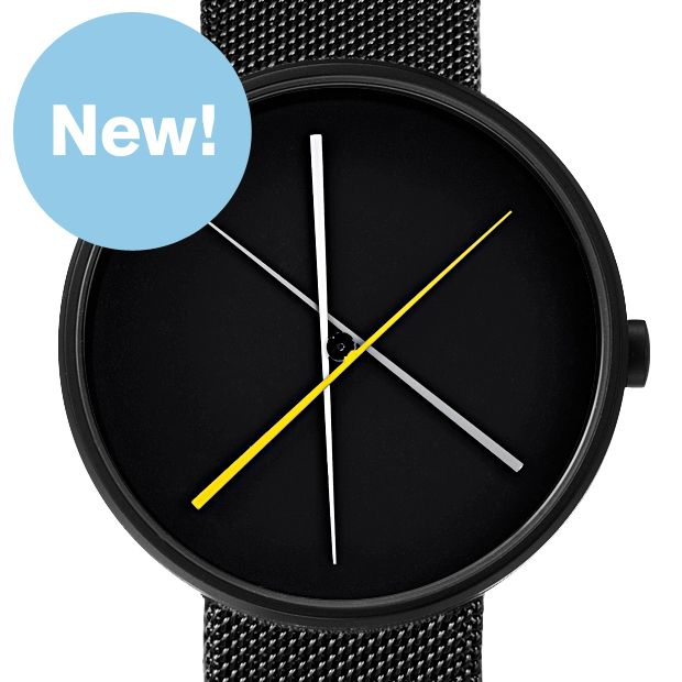 Crossover (black mesh) watch by Projects. Available at Dezeen Watch Store: www.dezeenwatchstore.com