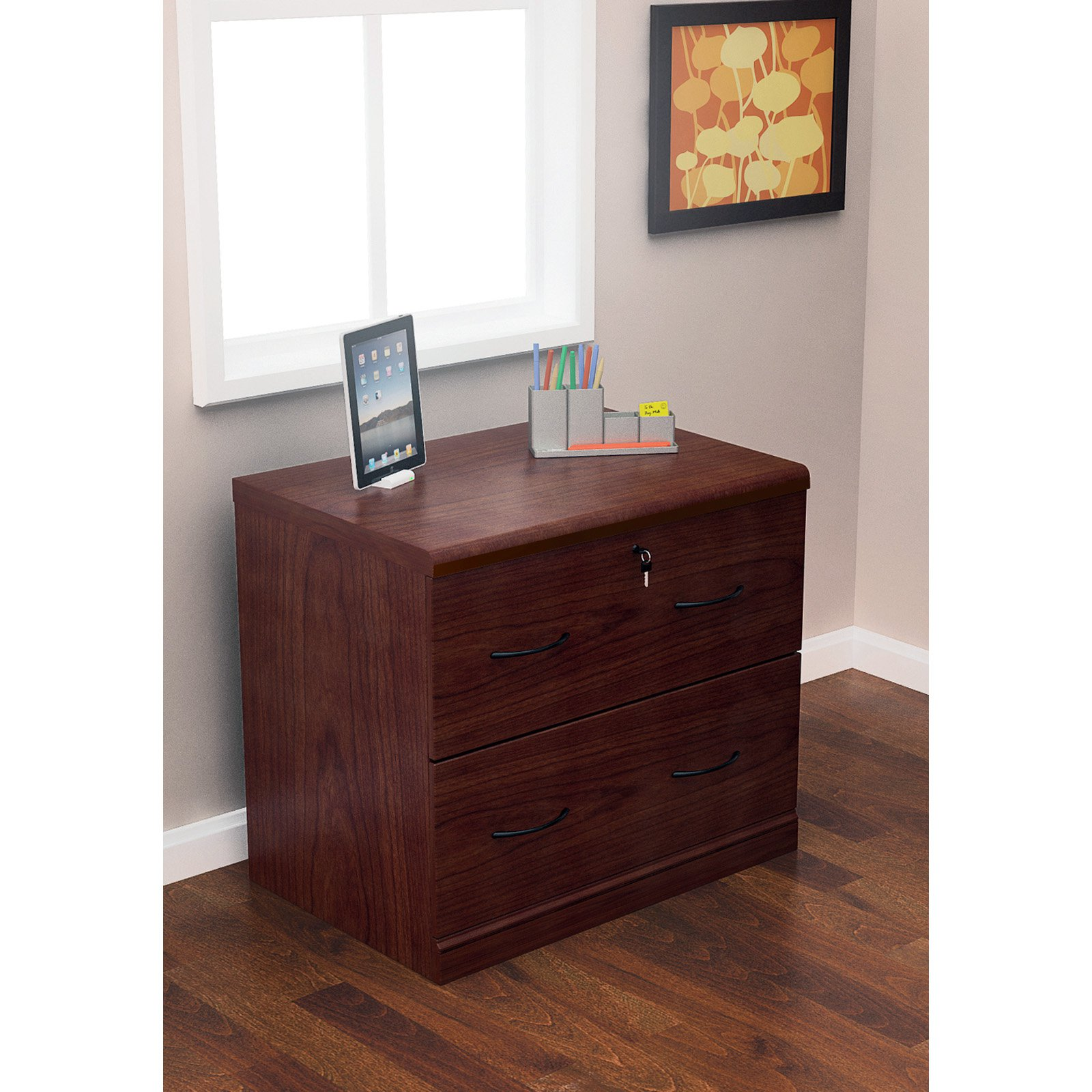 Z Line 2 Drawer Lateral File Cherry Office Furniture