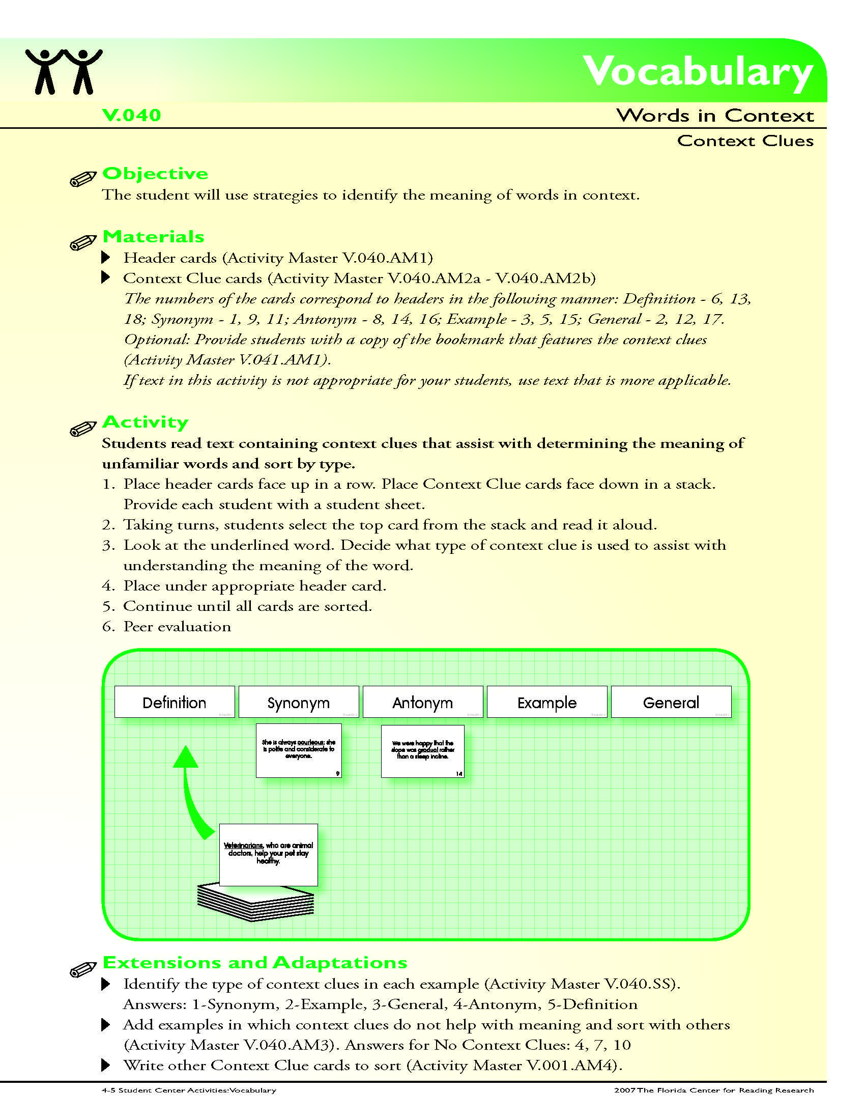 The Student Will Use Strategies To Identify The Meaning Of