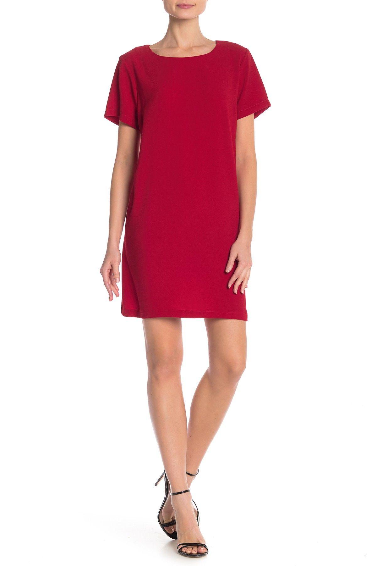 Bobeau Short Sleeve Crepe Shift Dress Nordstrom Rack Shift Dress Short Sleeve Shift Dress Short Dresses Casual [ 1800 x 1200 Pixel ]