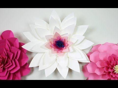 paper flowers tutorial Scarlet - YouTube