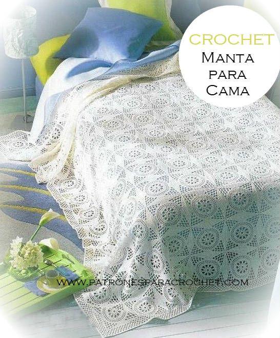 Patrones de Manta Crochet | Patrones para Crochet | manta crocet ...