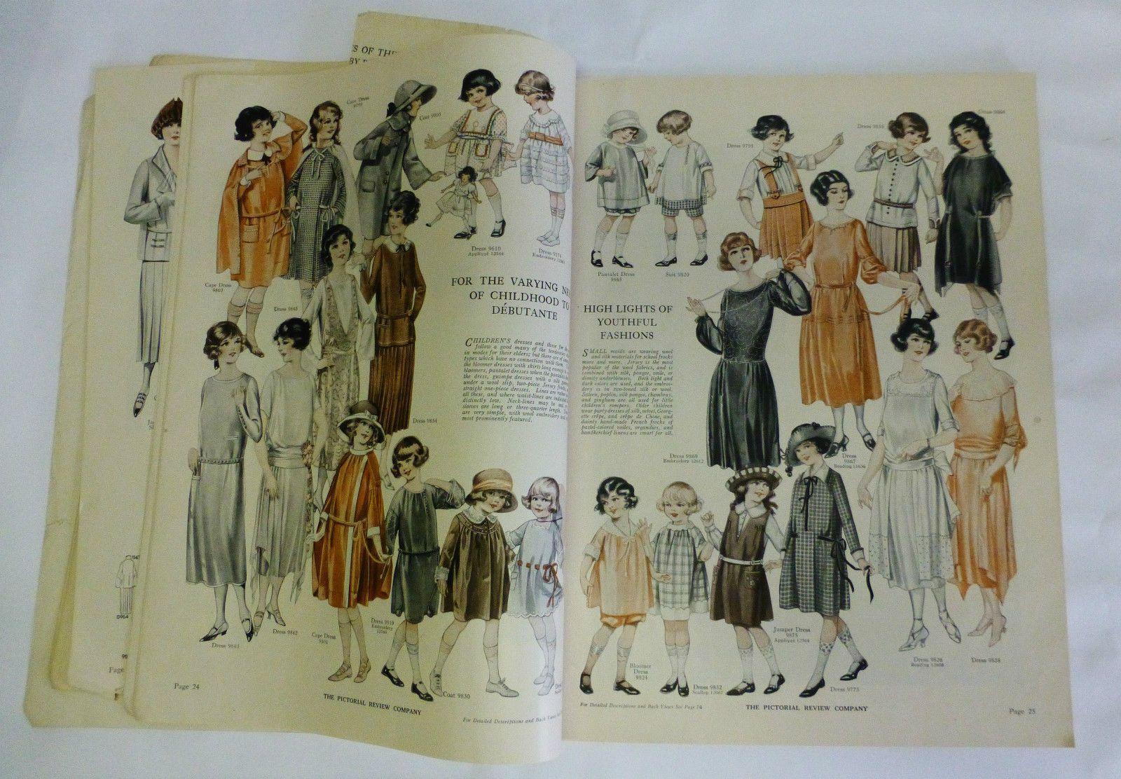 Pictorial Review Fashion Dress Pattern Book 1922 Downton Abbey Art Deco