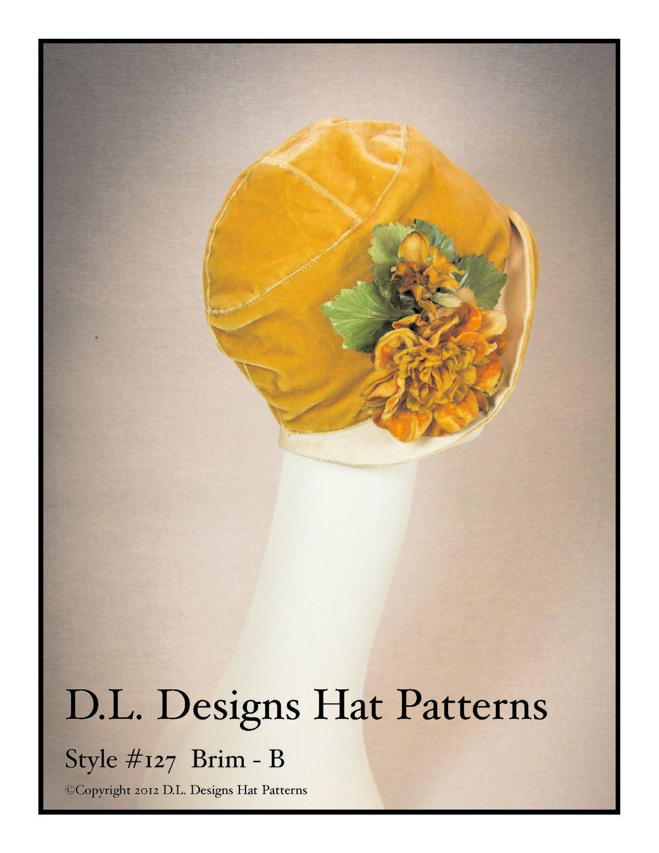 1920s style cloche hat pattern 2000 via etsy