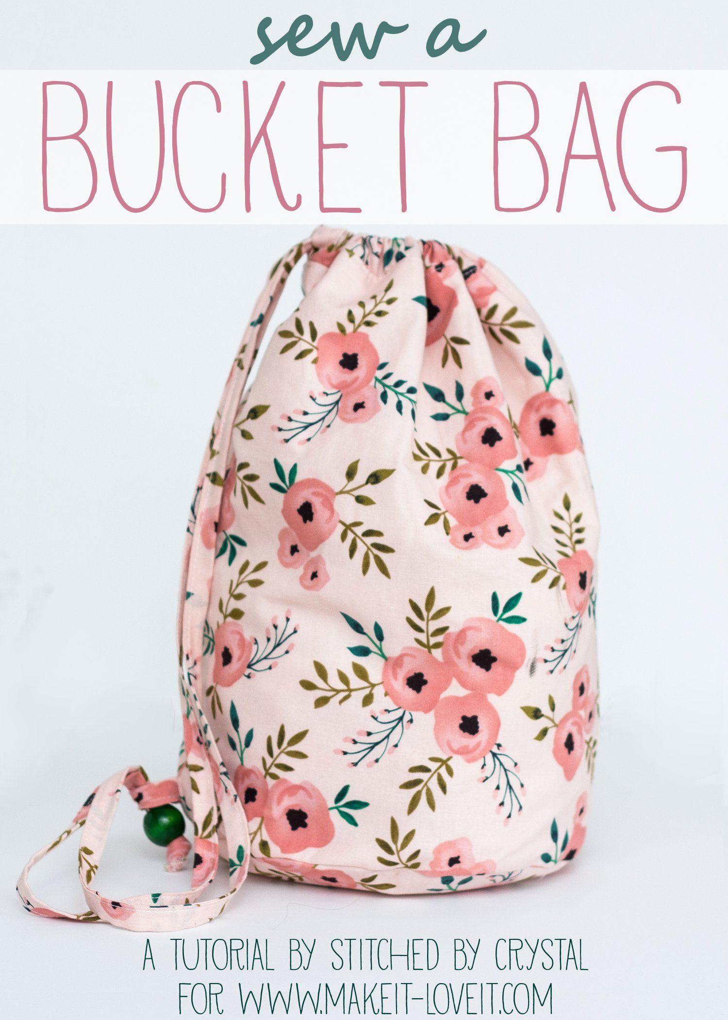 Sew a Bucket Bag | Nähen anfänger, Diy nähen und Nähen