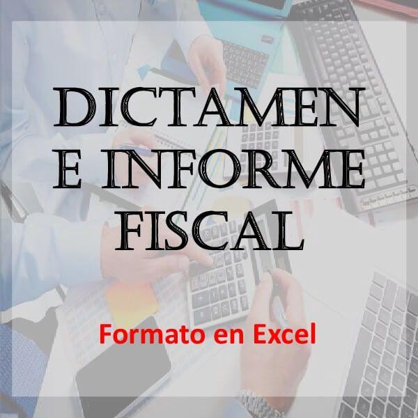 Descarga ya! Formato Dictamen e informe Fiscal - opinión d ...