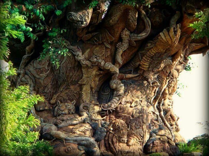 Animal Wood Carvings in Trees - Bing Images