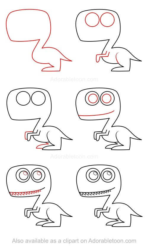 How to draw a dinosaur #dinosaur
