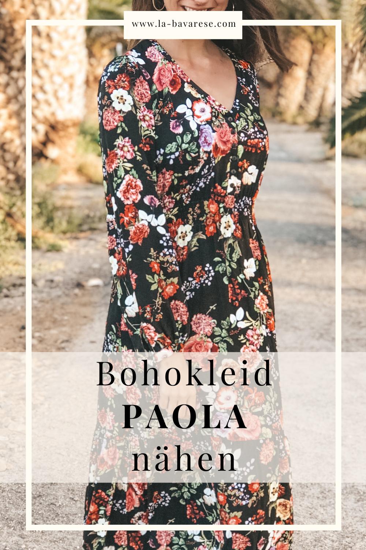 paola ist online - schnittmuster maxikleid, midi- und