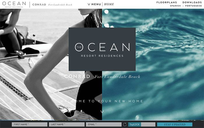 20 Examples Of Vertical Split Screen Layout In Web Design Hongkiat Web Design Trends Web Design Ocean Resort
