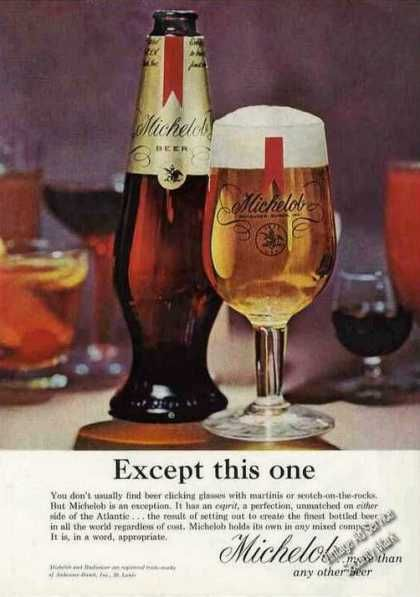 Nice Michelob Beer Ad Except This One 1964 Vintage Beer