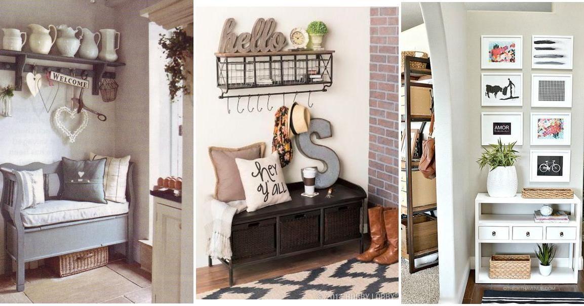 M s de 30 ideas para recibidores peque os muy acogedores - Estanterias metalicas para casa ...