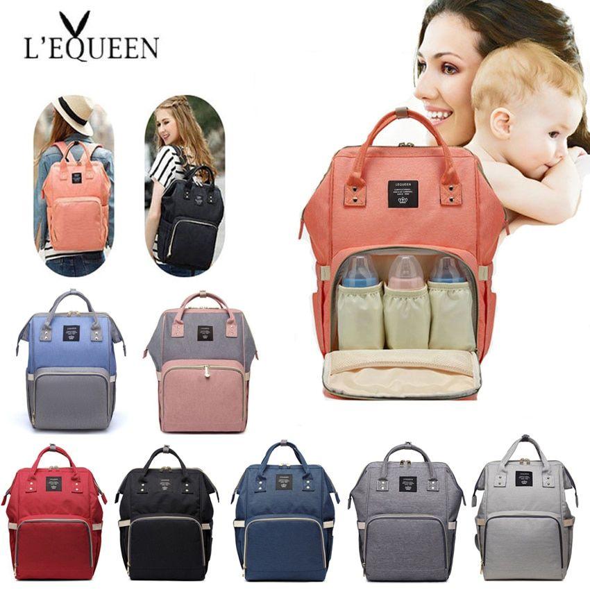Momie Maternity Nappy Diaper sac Grande Capacité Baby sacs de voyage femme Sac à dos