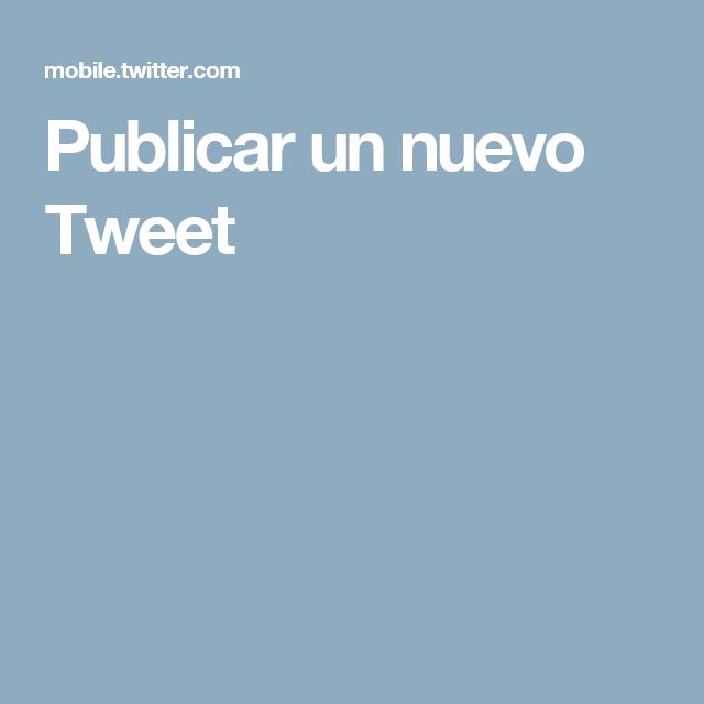 Publicar un nuevo Tweet
