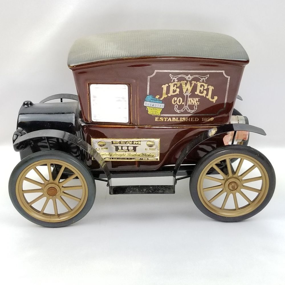 Jewel Co Inc Jim Beam Whiskey Bottle Decanter Antique Truck ...