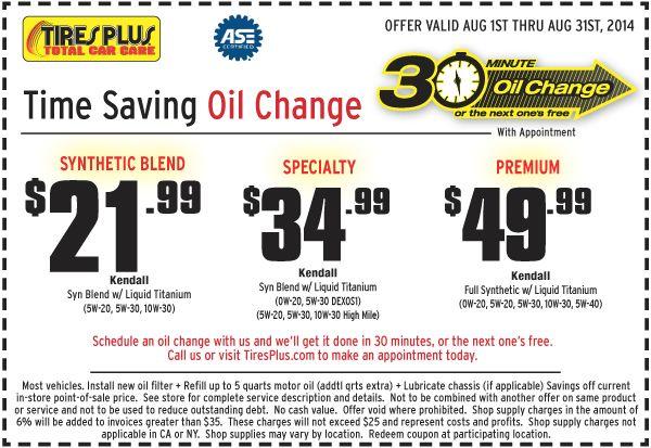 Tires Plus Oil Change Coupon August 2014 Oil Change Change Oils