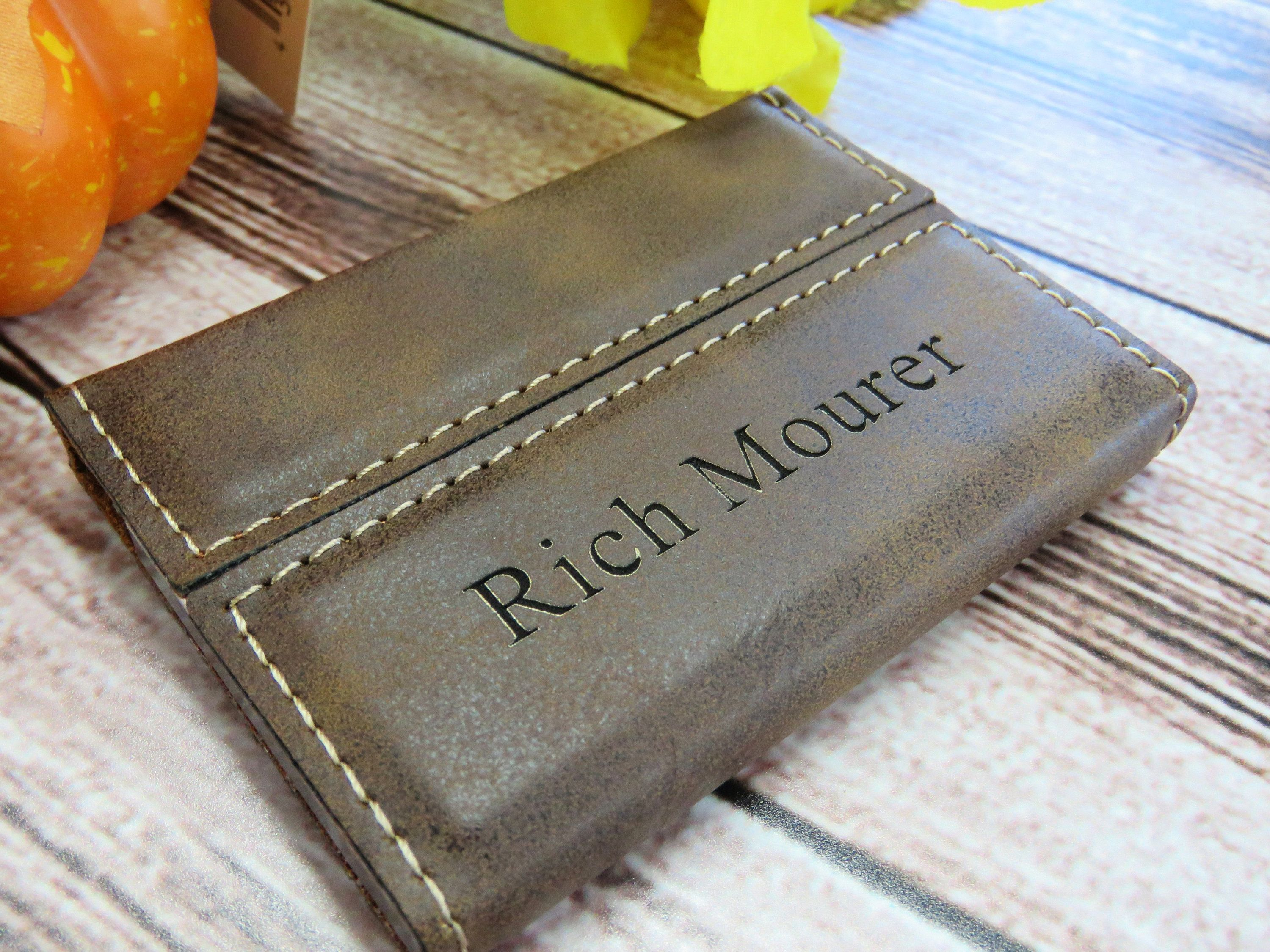 Custom Engraved Leather Business Card Holder Personalized Card Case Corporate Gifts Boss Gift Leather Business Cards Leather Business Card Holder Job Gifts