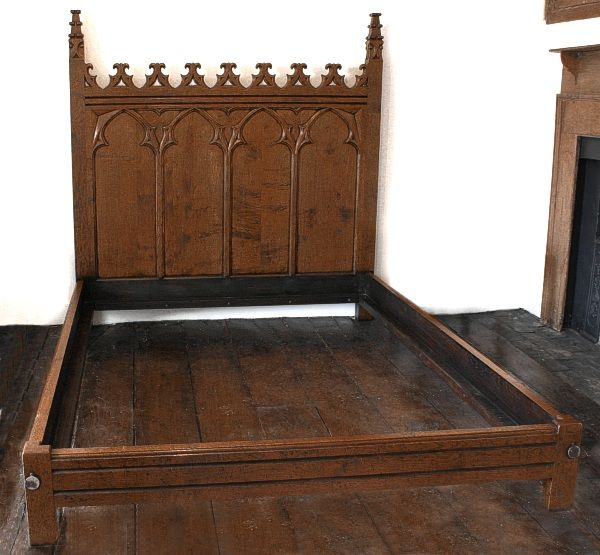 Meval Bedrooms Gothic Hand Carved Oak Bed Handmade Bespoke Bedroom Furniture Creepingthyme Info